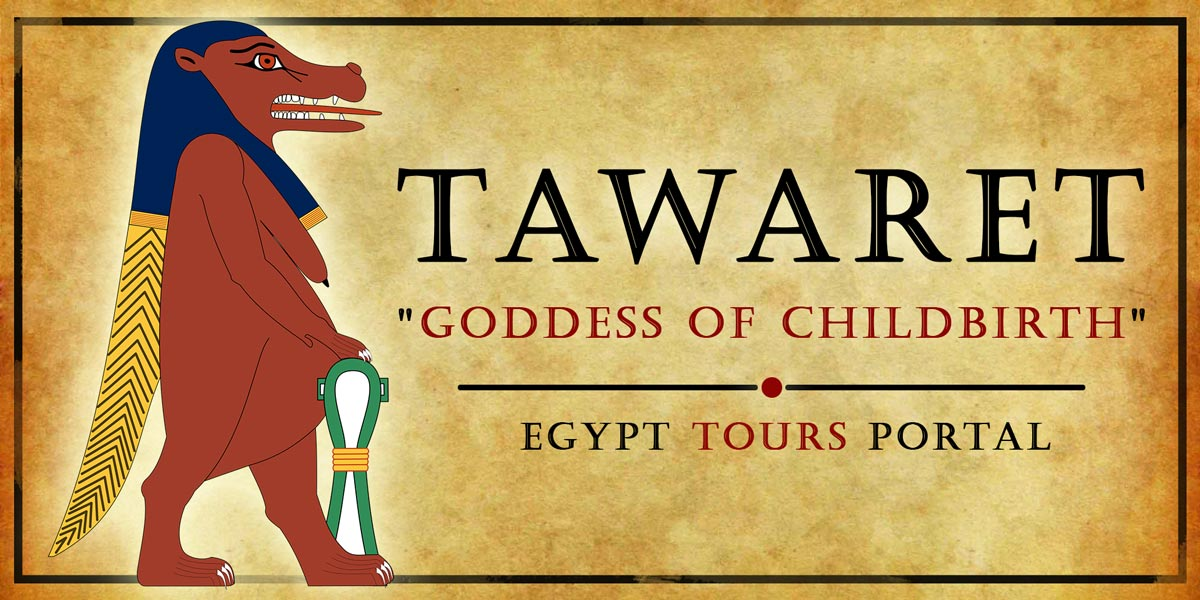 Tawaret, Goddess of Childbirth - Ancient Egyptian Gods And Goddesses - Egypt Tours Portal