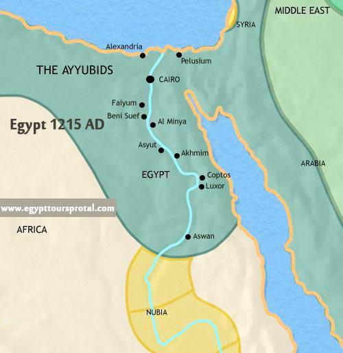 Ancient Egypt Map 1215 AD - Egypt Tours Portal
