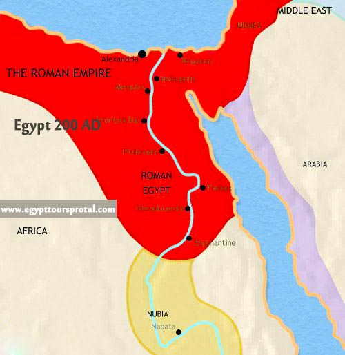 Ancient Egypt Map 200 AD - Egypt Tours Portal