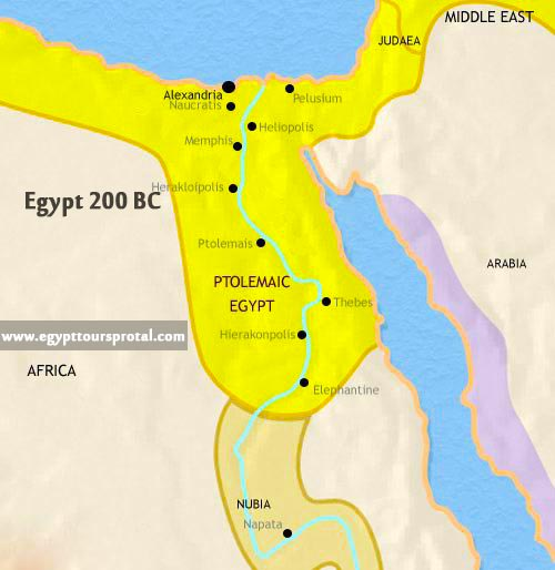 Ancient Egypt Map 200 BCE - Egypt Tours Portal