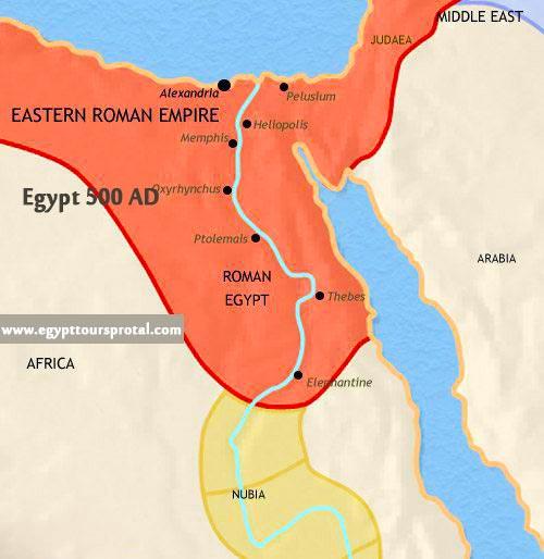 Ancient Egypt Map 500 AD - Egypt Tours Portal