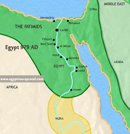 Ancient Egypt Map 979 AD - Egypt Tours Portal