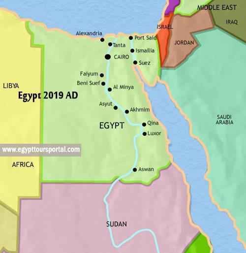 Egypt Map 2019 AD - Egypt Tours Portal