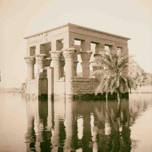Trajan's Kiosk of Philae on the Flood - Philae Temple Relocation - Egypt Tours Portal